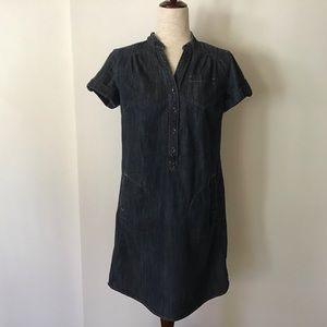 Denim Midi Dress with pockets